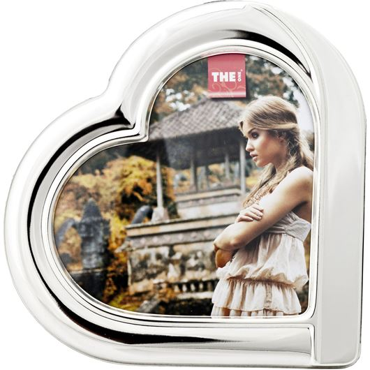 Picture of HEART photo frame12x12 silver