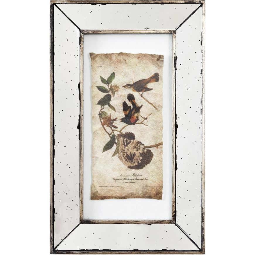 Picture of DON wall decoration 51x30 assorted 4 silver