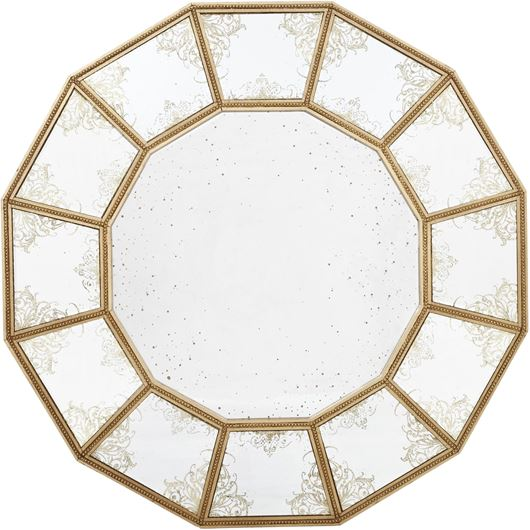 Picture of LINCIA mirror d100cm clear/gold
