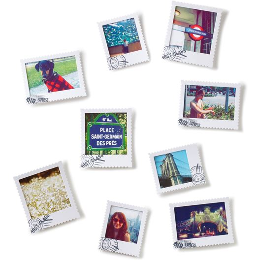 Picture of POSTAL photo frame set of 9 white
