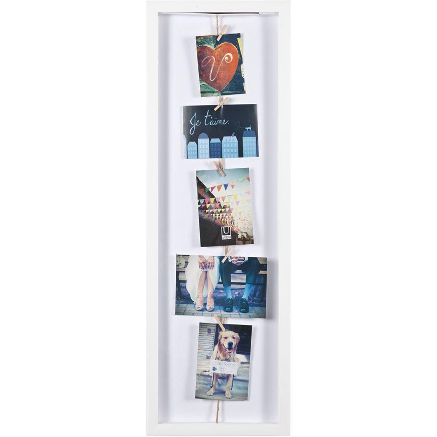 CLOTHESLINE FLIP photo holder white