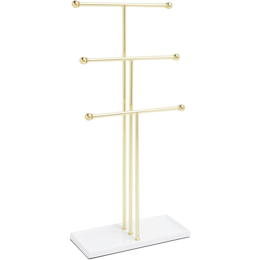 Picture of TRIGEM jewellery stand brass/white