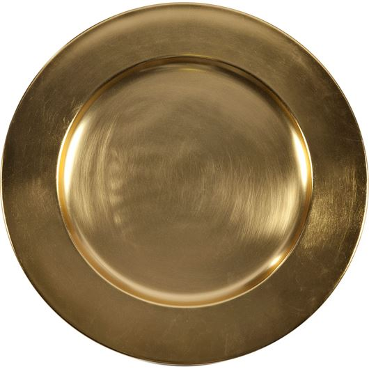 Picture of ALENA charger plate d35cm gold