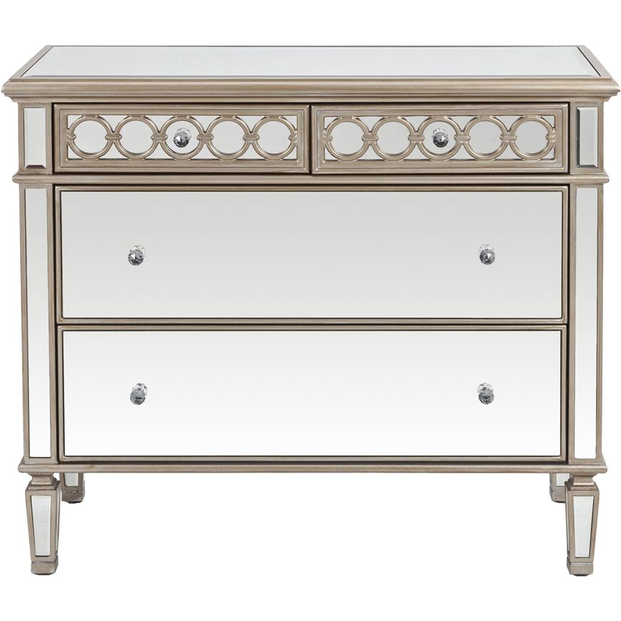 Picture of LINC chest 4 drawers clear/gold