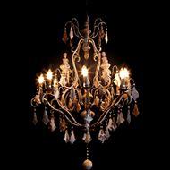 Picture of ALINA chandelier d87cm grey