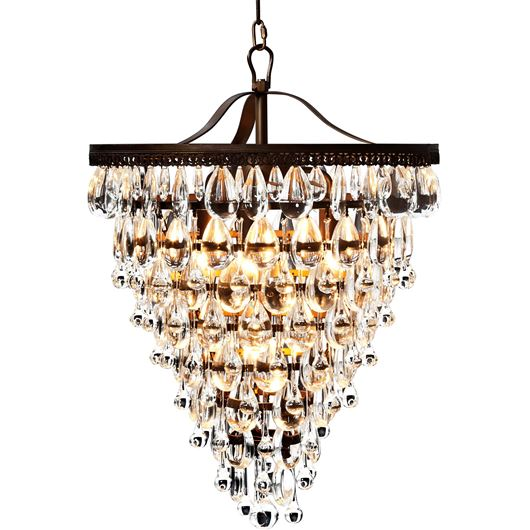 Picture of JAY chandelier d35cm clear/gold