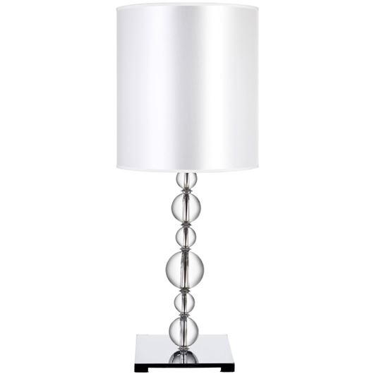 Picture of CRYST table lamp h80cm white/clear