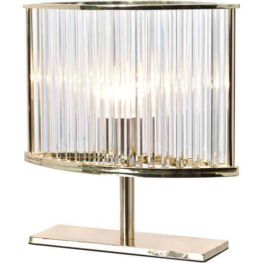 Picture of OVAL table lamp h30cm gold/clear