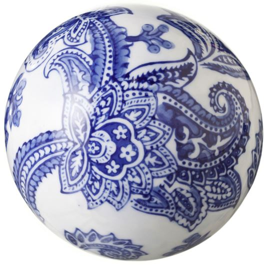 Picture of SAYURI ball decoration d11cm blue/white