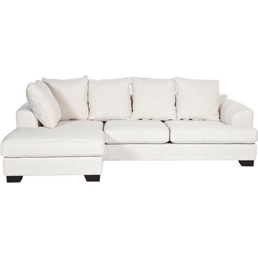 KINGSTON sofa 2.5 + chaise lounge left white