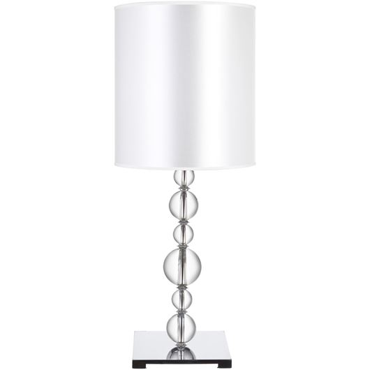 Picture of CRYST table lamp h62cm white/clear