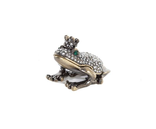 Picture of FROG trinket box gold
