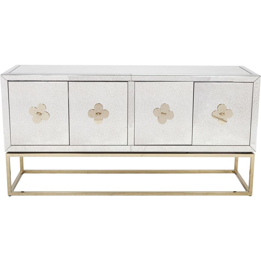 LIEN sideboard 89x180 clear/gold