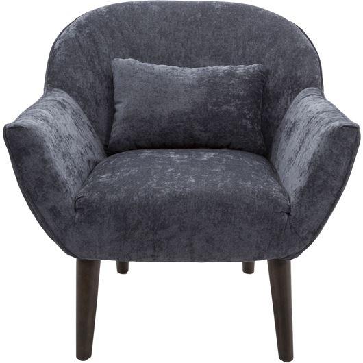 GINA armchair dark grey