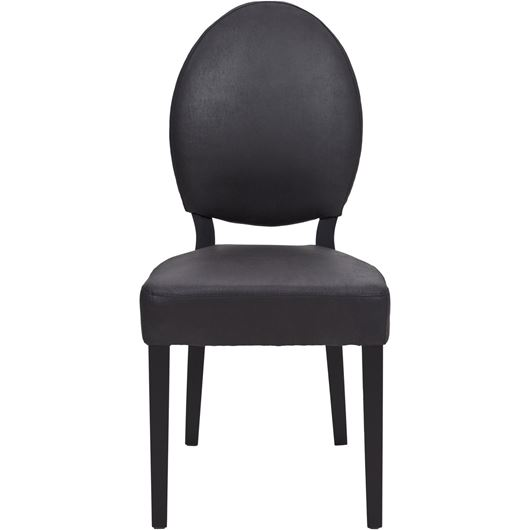 OX dining chair recycle leather black/black