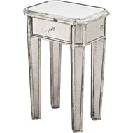 HONG bedside table clear/silver