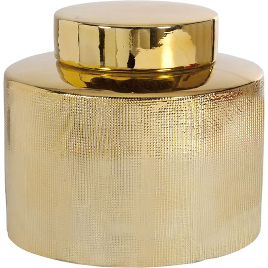 Picture of ALIN jar with lid h17cm gold