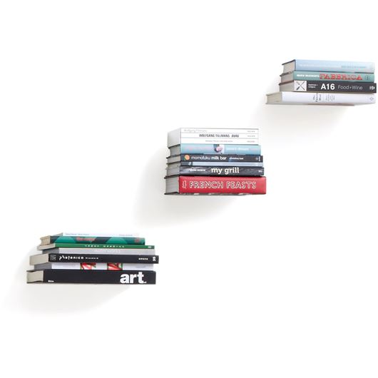 Picture of CONCEAL bookshelf small set of 3 silver