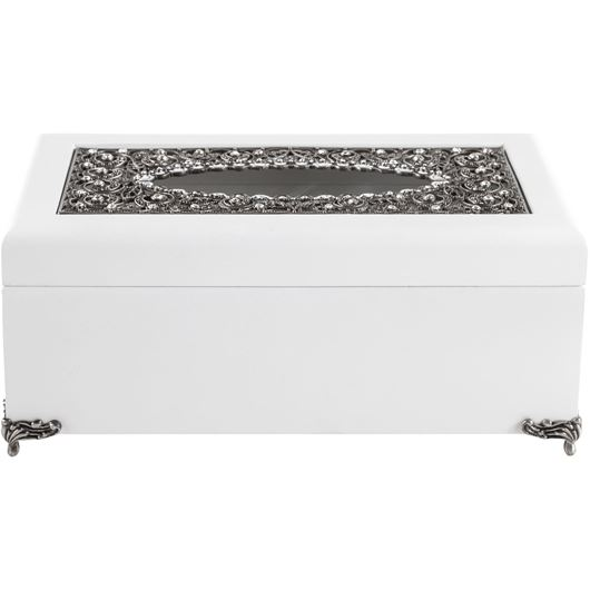 Picture of JUANNE tissue cover 25x15 white/silver
