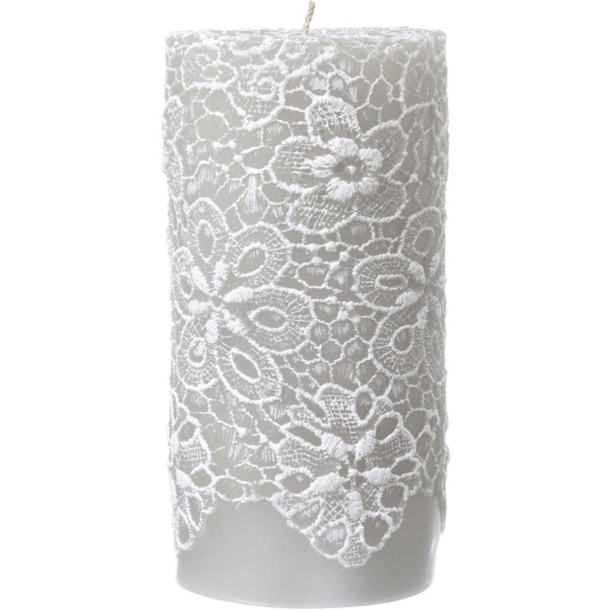 AFON pillar candle 8x15 grey