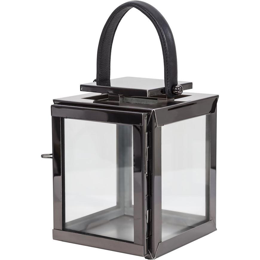 Picture of ARRON lantern h23cm nickel/black