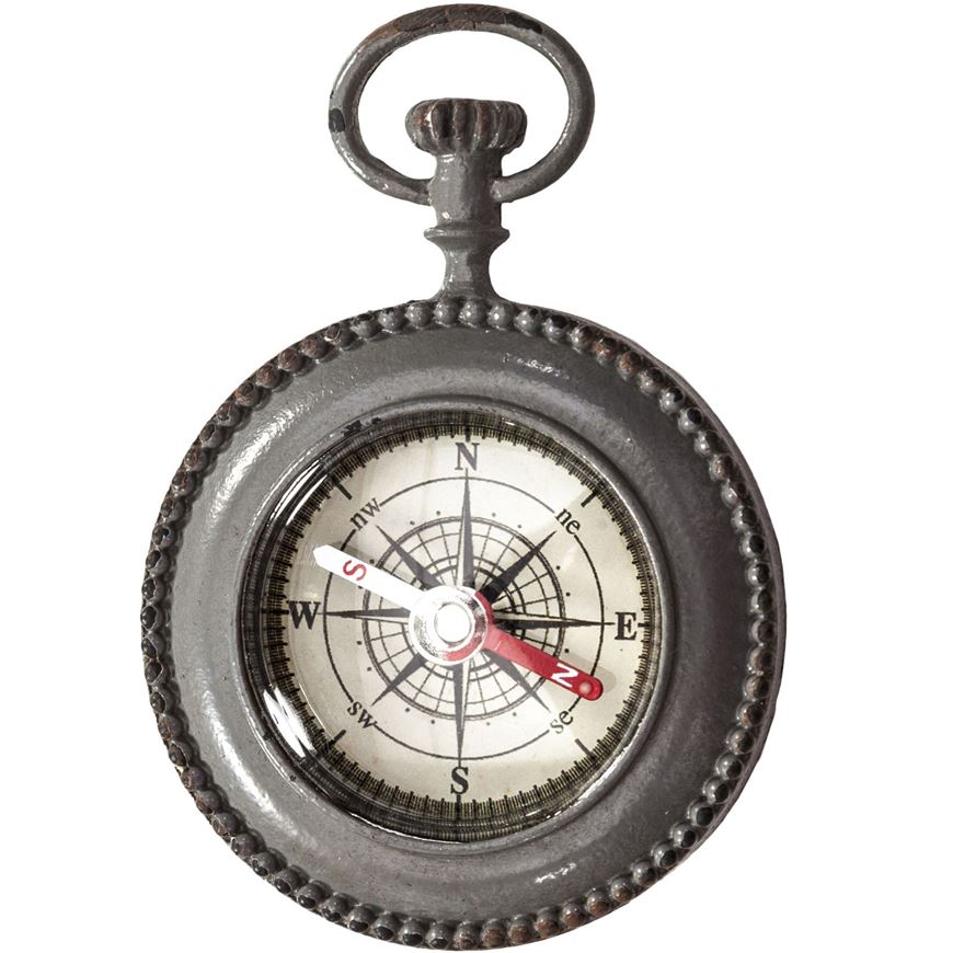 Picture of COMPASS decoration h8cm grey