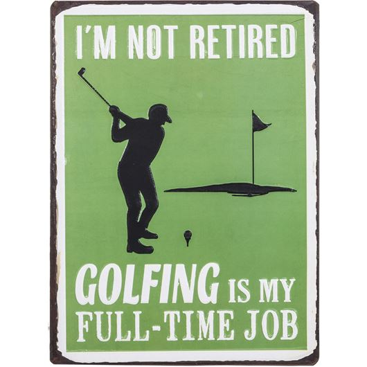 Picture of GOLFING wall decoration 35x26 green