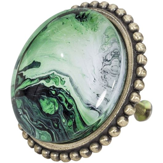 Picture of BABS knob d5cm green/gold