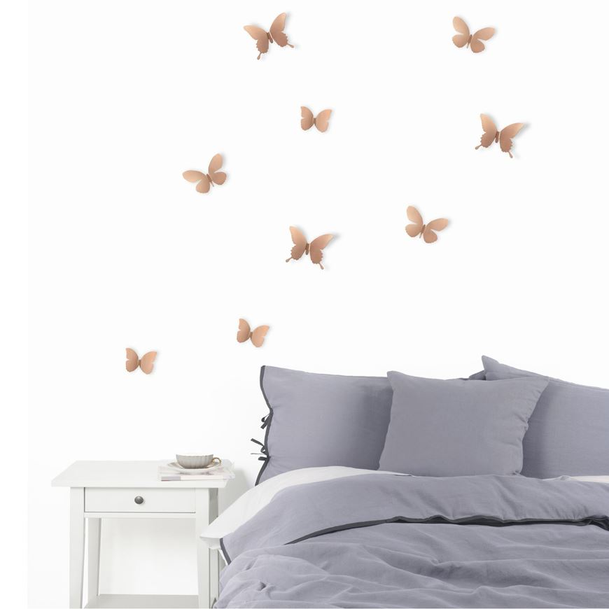 Picture of MARIPOSA wall decoration set of 9 copper