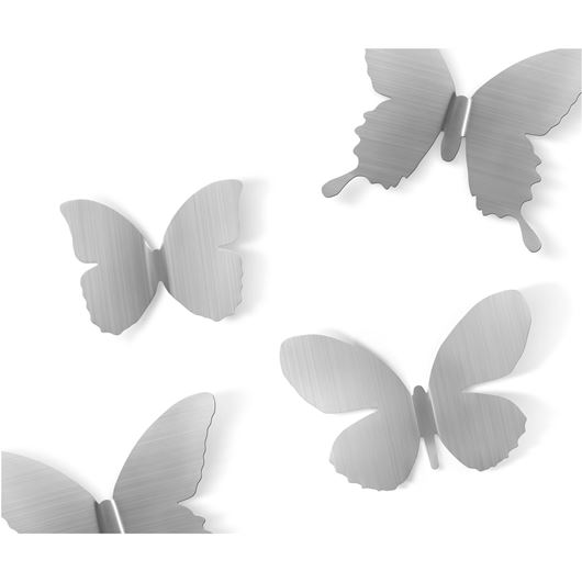 Picture of MARIPOSA wall decoration set of 9 nickel