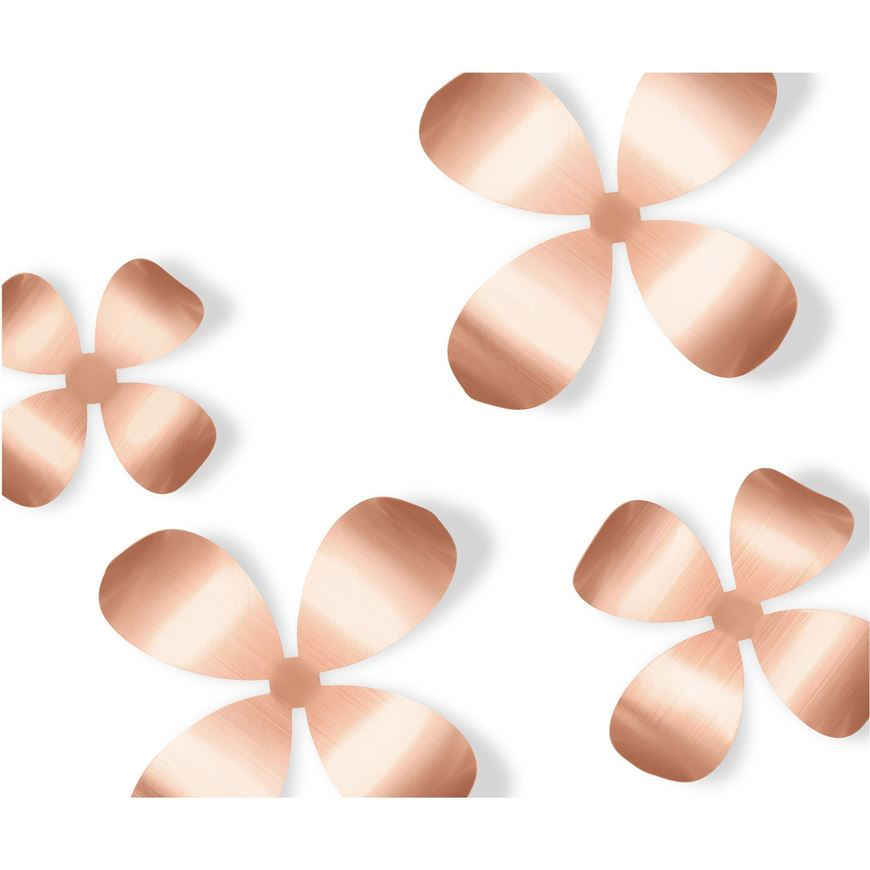 Wallflower Wall Decoration Set Of 9 Copper The One Furniture