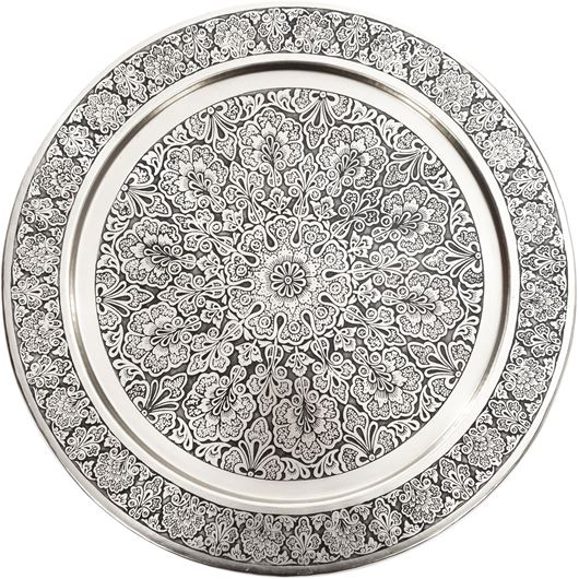 Picture of JADE tray d40cm nickel