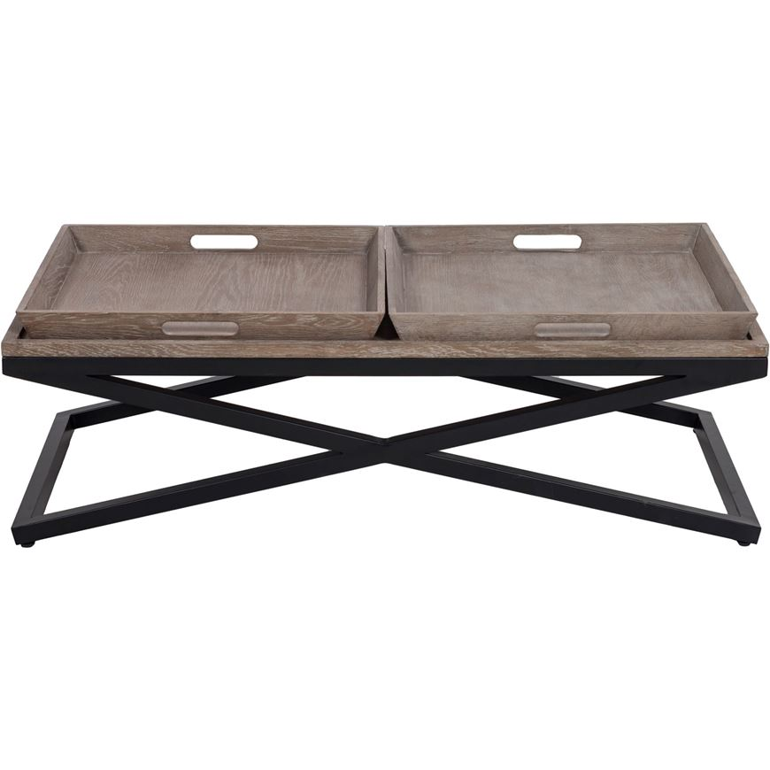 Picture of FLABY coffee table 120x59 brown/black