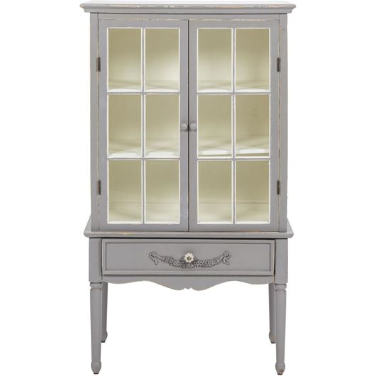 Picture of BONNIE display cabinet 139x77 grey/white