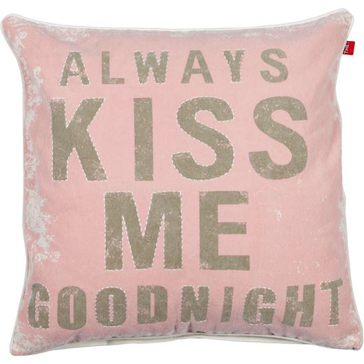 Picture of KISS cushion cover 50x50 pink/beige