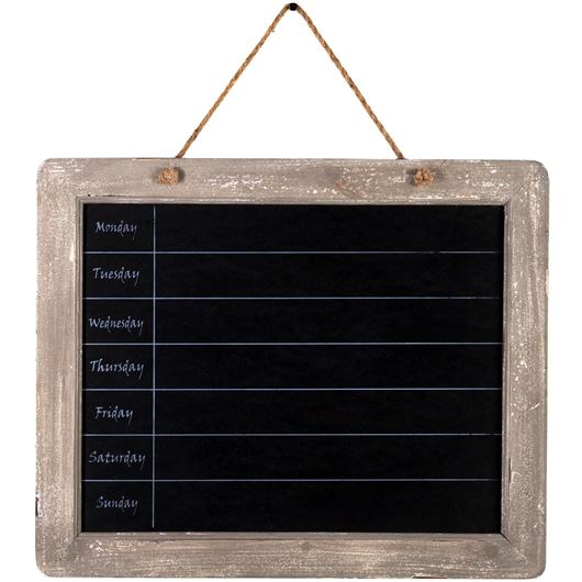 Picture of WEEKLY blackboard 61x50 natural/black