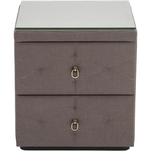 Picture of ZENN P bedside table taupe