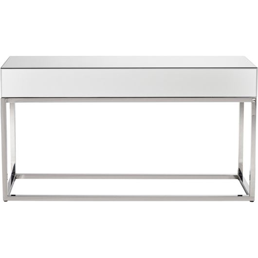 LOKA console 130x40 clear/stainless steel