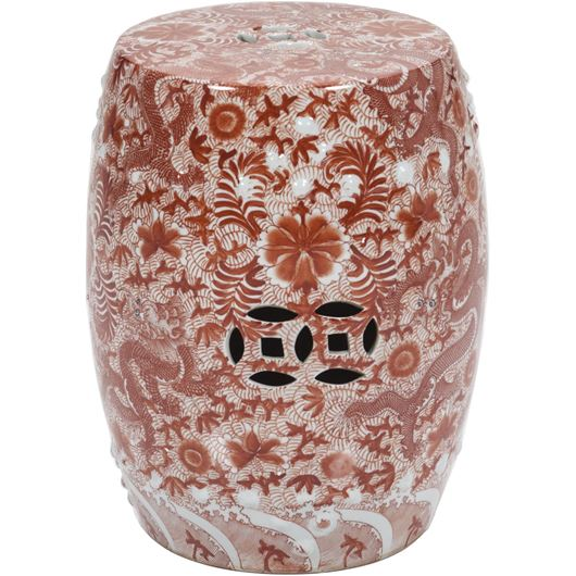 Picture of JALENA stool d33cm orange/white