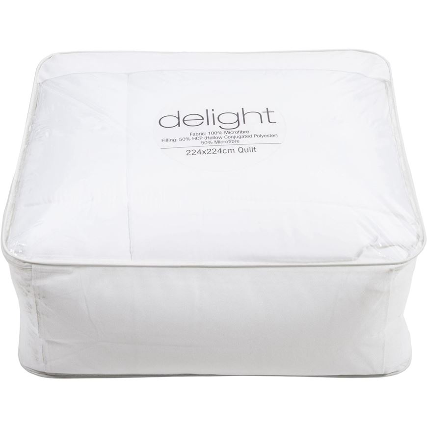 Picture of DELIGHT quilt 224x224 white