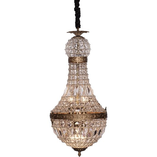 Picture of RIN chandelier d35cm clear/gold