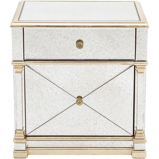 Picture of GAVIN bedside table clear/gold