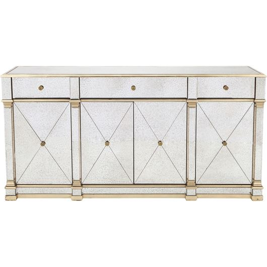 Picture of GAVIN sideboard 90x180 clear/gold