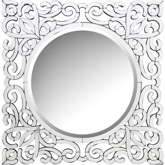Picture of LEVIN mirror 102x102 clear/black