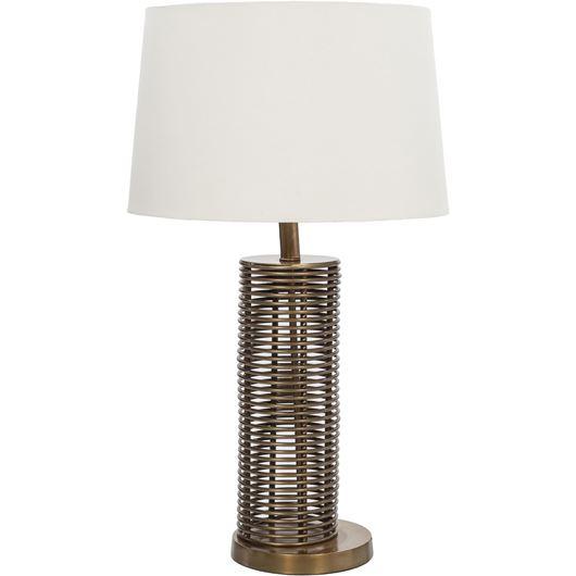 Picture of FARICA table lamp h71cm cream/brass