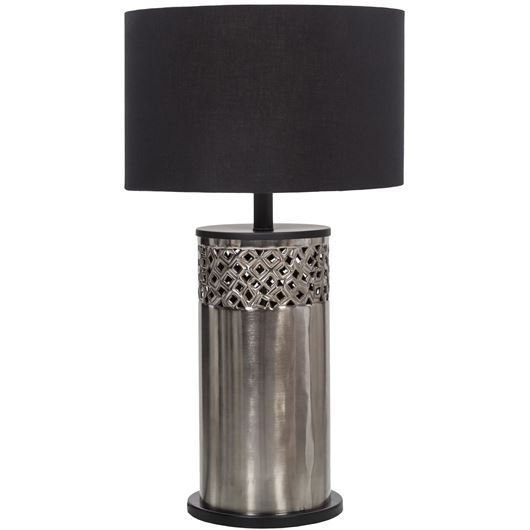 Picture of PALMER table lamp h66cm black/grey