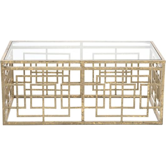 Picture of CROSSY coffee table 110x60 gold