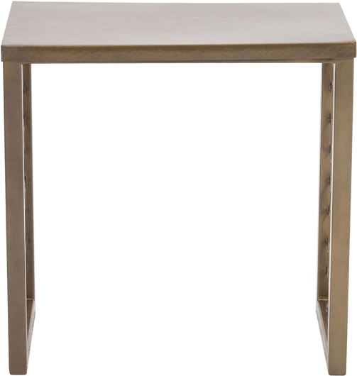 Picture of INDUS side table 56x30 brass