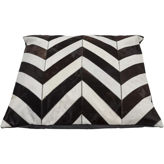 Picture of CHEVRON floor cushion 80x80 white/brown