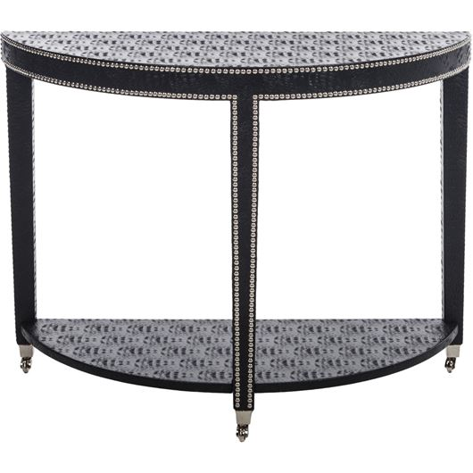 Picture of PHILIP moon console croco print faux leather black